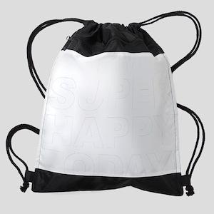I'm Super Happy Today! in white Drawstring Bag