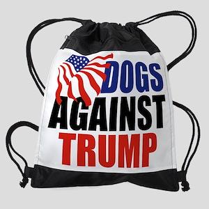 Dogs Against Trump Drawstring Bag