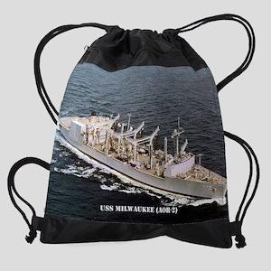 milwaukee calendar Drawstring Bag
