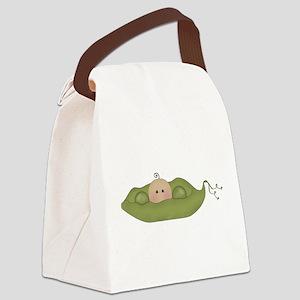 Caucasian Singleton Canvas Lunch Bag