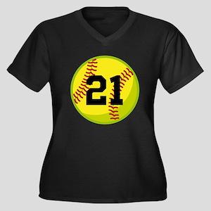 Softball Sports Personalized Plus Size T-Shirt