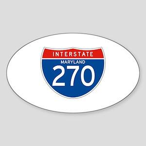Interstate 270 - MD Oval Sticker