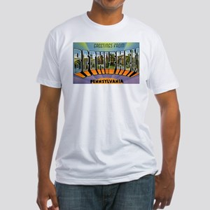 Bethlehem Pennsylvania Greetings (Front) Fitted T-