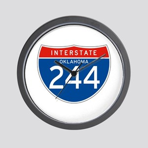 Interstate 244 - OK Wall Clock