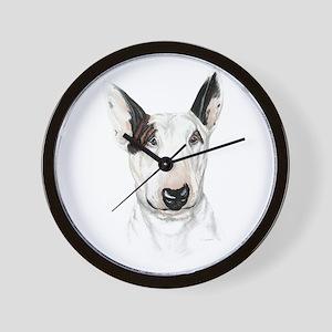 Bull Terrier Bust Wall Clock