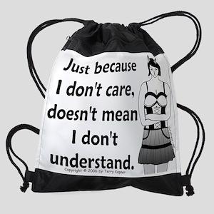 dont_care Drawstring Bag