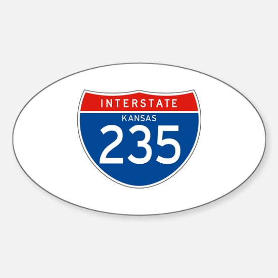 Interstate 235 - KS Oval Decal
