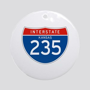 Interstate 235 - KS Ornament (Round)