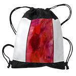 Pink Leaves Drawstring Bag