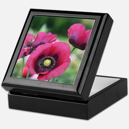 Monets Poppies Keepsake Box