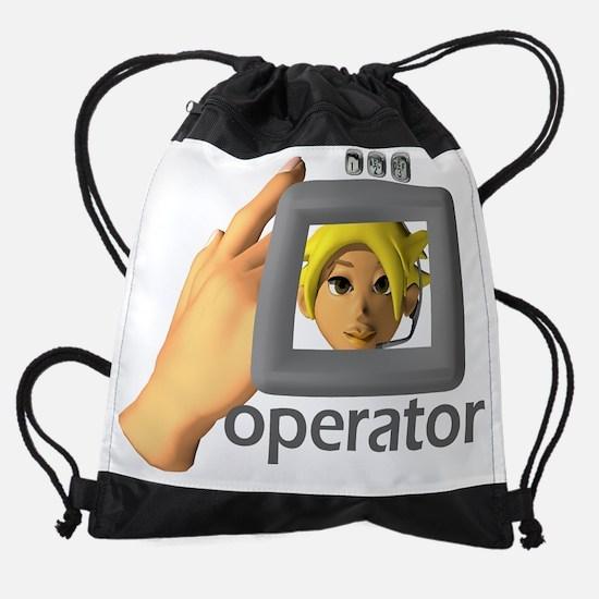 telephone operator II.png Drawstring Bag