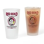 RED ROAD PATH OF LIFE Drinking Glass