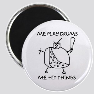 Funny Drummer Me Play Drums Caveman Magnet