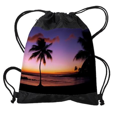 poipu_sunset.png Drawstring Bag