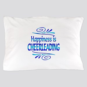 Happiness is Cheerleading Pillow Case