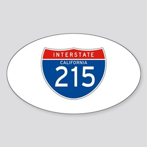 Interstate 215 - CA Oval Sticker