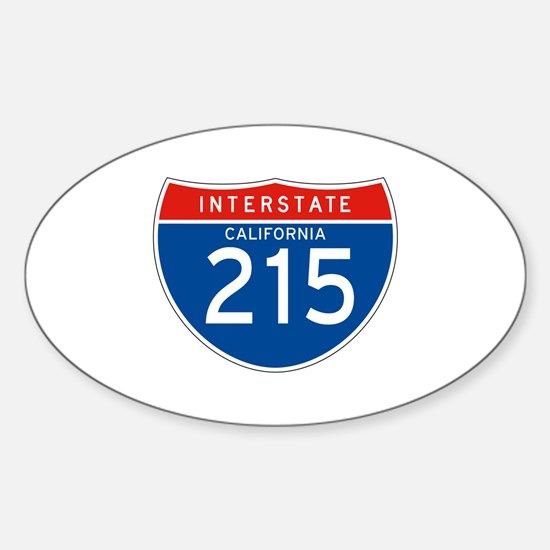 Interstate 215 - CA Oval Decal