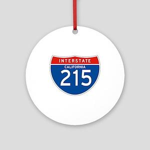 Interstate 215 - CA Ornament (Round)