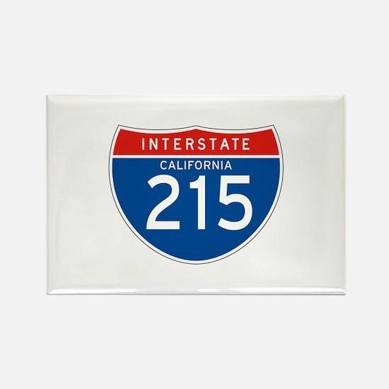 Interstate 215 - CA Rectangle Magnet