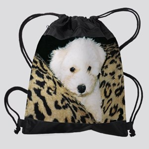 BICHON PUPPY FACE CALENDAR Drawstring Bag