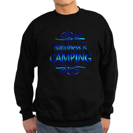 Happiness is Camping Sweatshirt (dark)