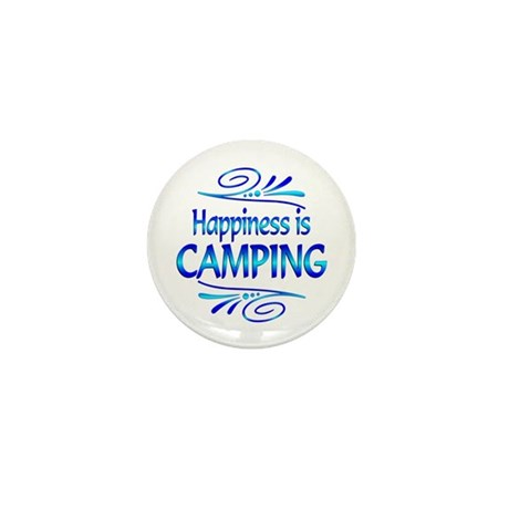 Happiness is Camping Mini Button (10 pack)