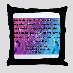 Chiari Syringo Awareness Throw Pillow