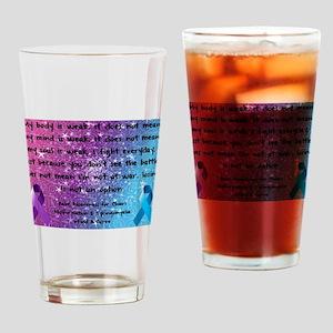 Chiari Syringo Awareness Drinking Glass