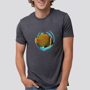 OCEANS AMAZED Mens Tri-blend T-Shirt