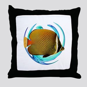 OCEANS AMAZED Throw Pillow