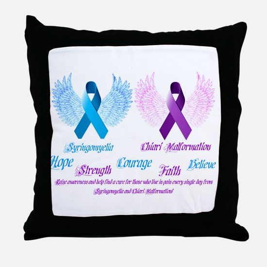 Chiari/Syringomyelia Awareness Throw Pillow