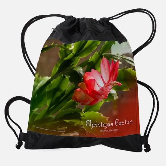 Christmas Cactus Photos Drawstring Bag