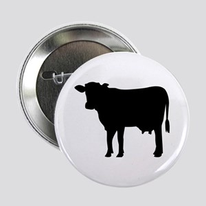 "Black cow 2.25"" Button"
