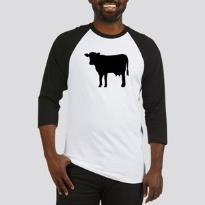 Black cow Baseball Jersey