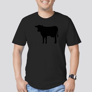 Black cow Men's Fitted T-Shirt (dark)