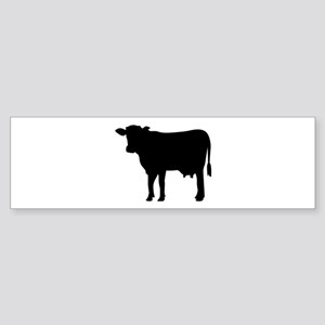 Black cow Sticker (Bumper)