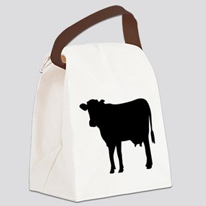 Black cow Canvas Lunch Bag