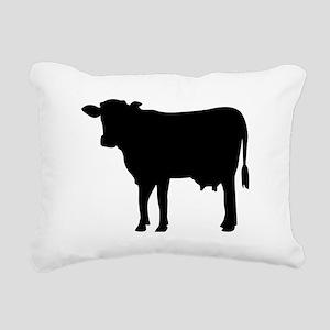 Black cow Rectangular Canvas Pillow