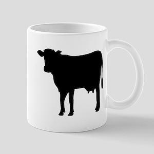 Black cow Mug