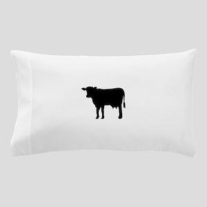 Black cow Pillow Case