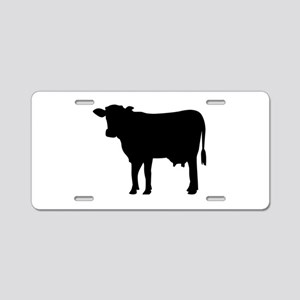 Black cow Aluminum License Plate