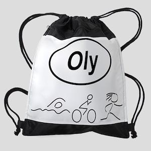Oly Oval w figures 1 Drawstring Bag