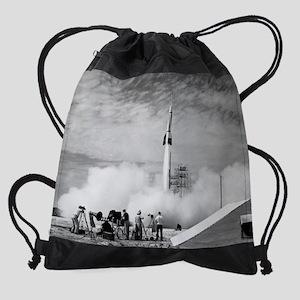1st rocket calendar print Drawstring Bag