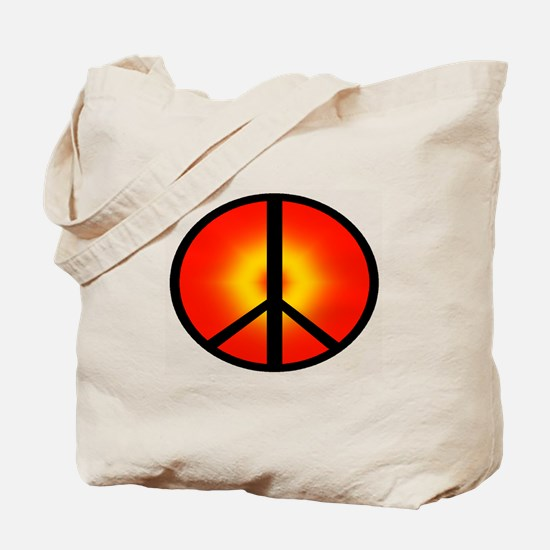 PEACE SUN Tote Bag
