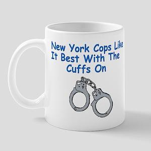 New York Police Cops Cuffs Mug