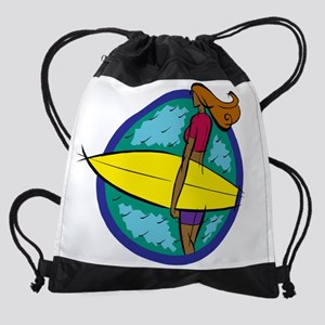 surfergirlwht Drawstring Bag