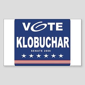 Vote Amy Klobuchar Rectangle Sticker