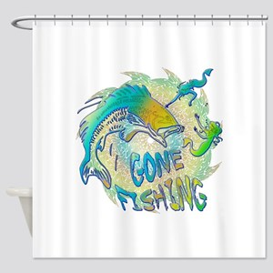 Gone Fishing 3 Shower Curtain