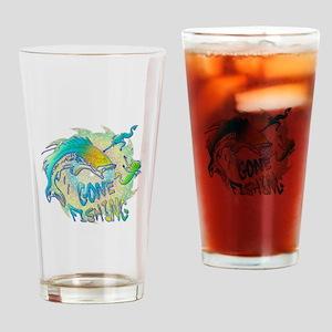 Gone Fishing 3 Drinking Glass