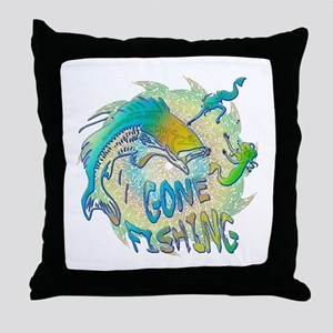 Gone Fishing 3 Throw Pillow
